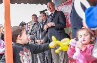 Antonio Bonfatti visitó el Centro de Cuidado Infantil de Zenón Pereyra