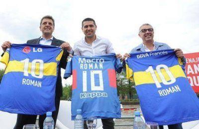Massa y Zamora homenajearon a Riquelme en Tigre