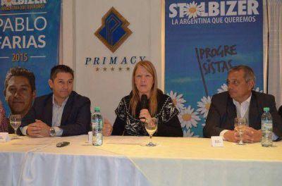 """Stolbizer contra Scioli: """"le falta el respeto a los demás candidatos"""""""