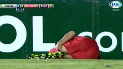 Una mala para Independiente: Albertengo sufrió la rotura del ligamento cruzado de la rodilla y estará seis meses sin jugar