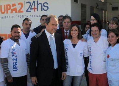 Scioli dio inicio a la construcción de una nueva UPA en San Miguel