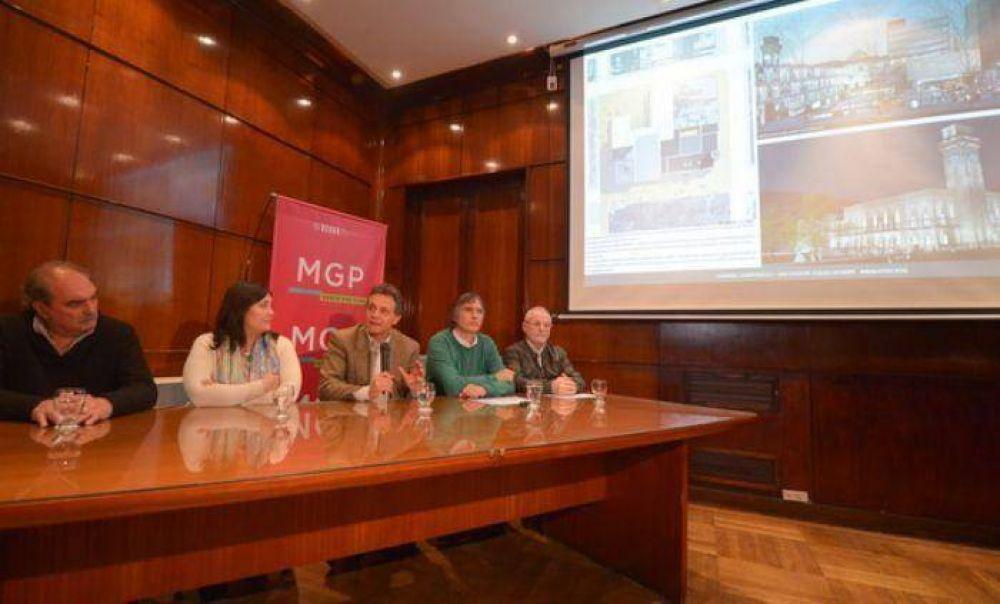 Pulti presentó la propuesta ganadora para la puesta en valor del Palacio Municipal