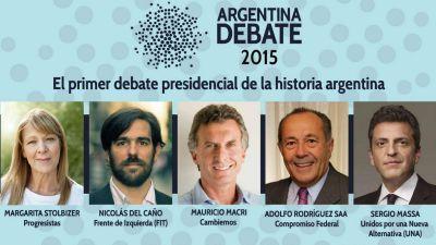 Sin Scioli, los candidatos a presidente debatirán por primera vez en la historia