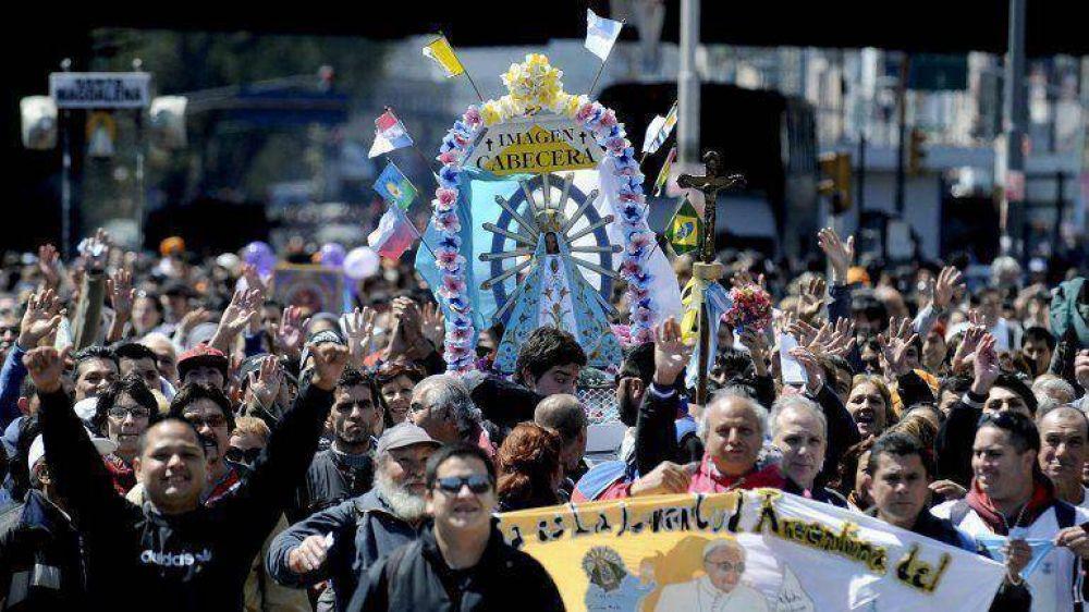 Un millón y medio de personas peregrinaron a Luján