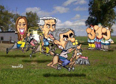 Al galope de la campaña, los candidatos buscan arrear hacia su corral el voto del campo bonaerense