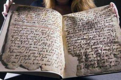 Exhiben el manuscrito más antiguo del Corán en Birmingham