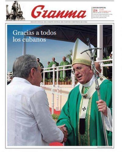 Granma realizó una edición especial dedicada al Papa Francisco