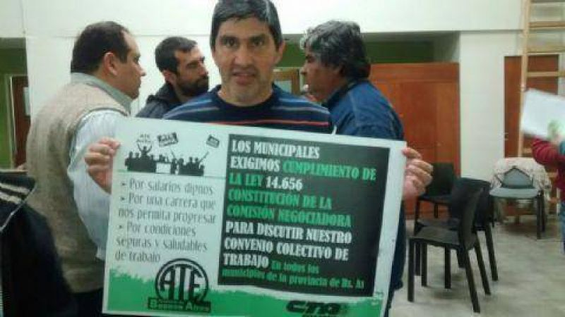 """Lescano: """"Trabajamos en la construcción del convenio colectivo para los municipales"""""""