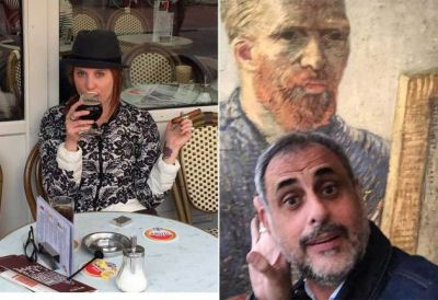 Las fotos del viaje de Jorge Rial y Agustina Kämpfer por Amsterdam