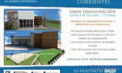 Inauguran la primera etapa de obras urbanísticas en Esperanza