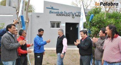 Curetti inaugur� la ampliaci�n de la Escuela Municipal de Canotaje