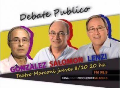 Hoy se realiza el debate público con los candidatos a intendente