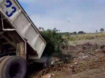 Atilio Roncoroni denunció un supuesto basural clandestino utilizado por la comuna