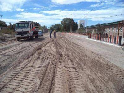 Comenzó el trabajo de asfaltado de calles del micro centro