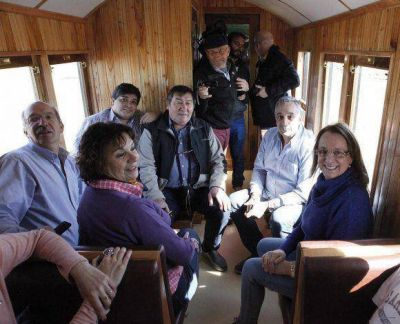 Alicia Kirchner, en el tren de Gallegos a Río Turbio