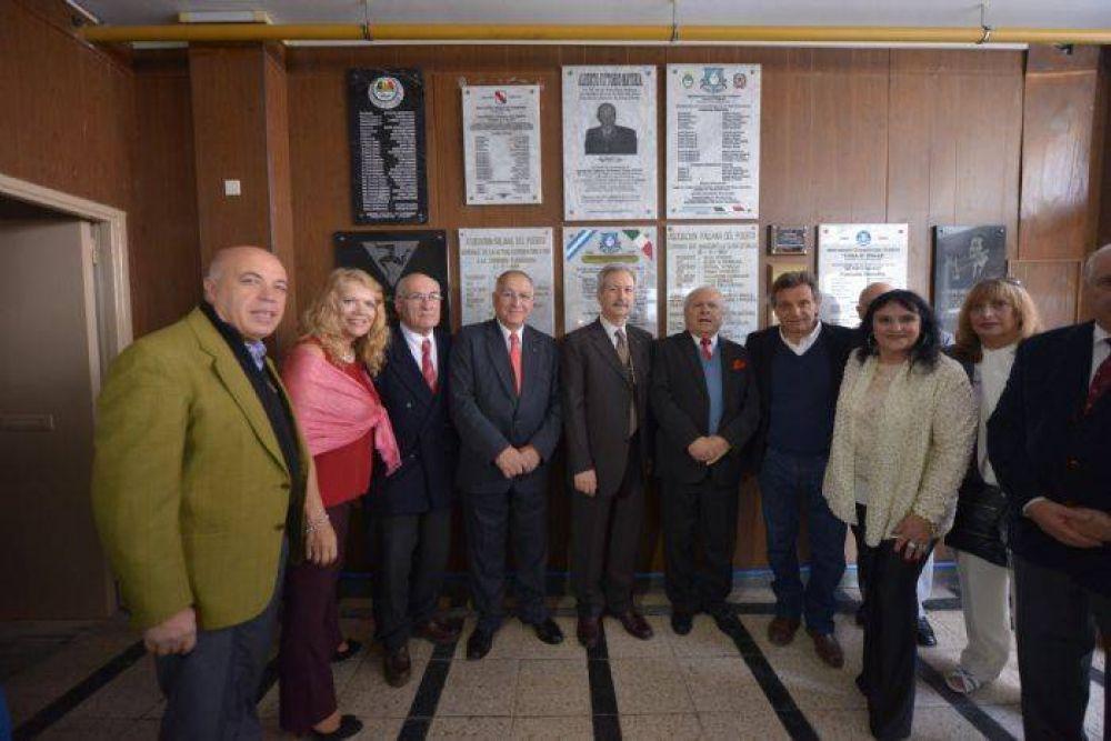 Pulti participó de los festejos del 60 aniversario de Casa D'Italia