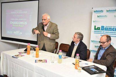 """Economista del Frente Renovador Aldo Pignanelli con Gastón: """"Tenemos un plan de viviendas que en Chascomús serían 1000 en cuatro años"""""""