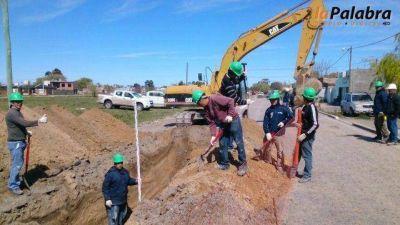 Avanza la obra de desagües pluviales en la zona noroeste de Patagones