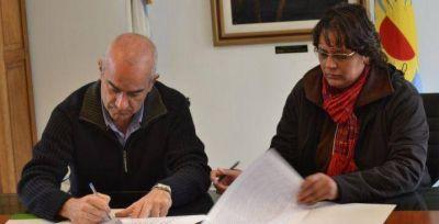 Se firmó convenio de creación del Vivero Municipal