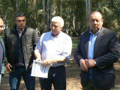 Sánchez recorrió las obras de remodelación del Parque Cabañas