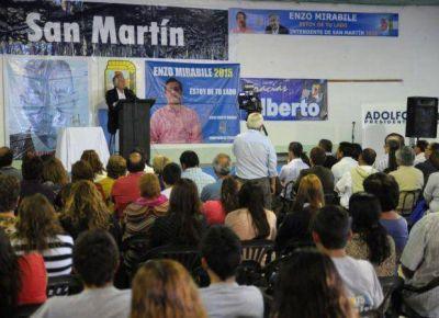 Alberto quiere más obras y trabajo para los jóvenes de San Martín