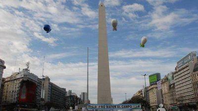El reclamo del campo llegó al Obelisco
