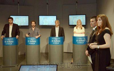 Los candidatos a intendente participaron de un histórico debate en EL POPULAR