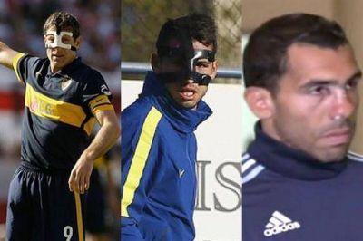 Como alguna vez lo hicieron Palermo y Calleri, Tevez jugaría con una máscara ante Racing