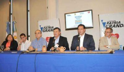 Peppo junto al senador De Fazio respaldaron la fórmula Scioli - Zannini en Casa de las Culturas