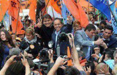"""Scioli optimista recalcó que """"el pueblo quiere definir esta elección el próximo domingo"""""""