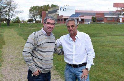Jos� Eseverri junto al ex candidato a concejal de Progresistas Marcos Lavandera