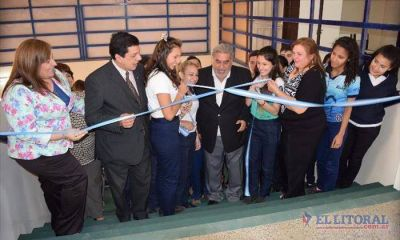 Inauguraron refacciones en la Ferré a tres meses del incendio
