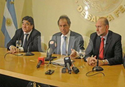 """Daniel Scioli: """"garantizo la presencia de las fuerzas federales hasta erradicar el narcotráfico"""""""