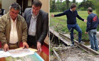 Por separado, Luciani y Boto recorrieron las obras del río Luján