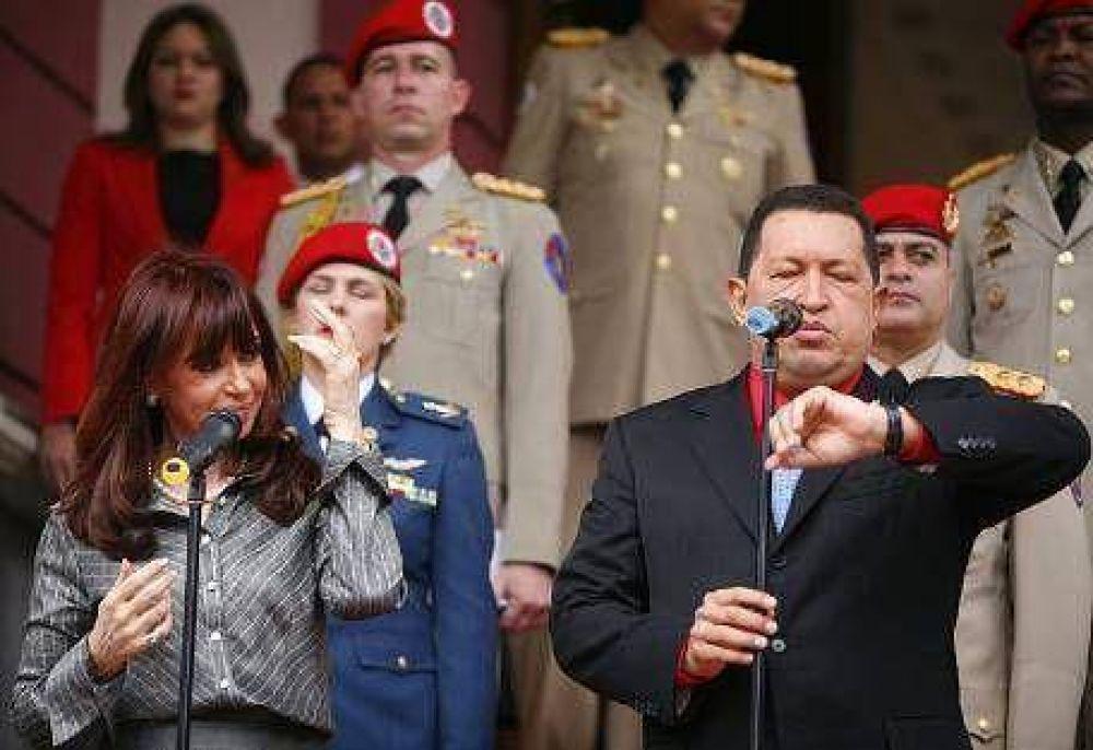 Para Hugo Chávez, Cristina Kirchner es la heredera de San Martín, Evita y Perón