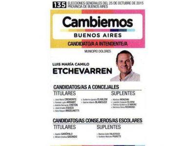 Se está repartiendo una boleta de Cambiemos que no tiene a Camilo Etchevarren