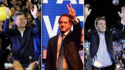Scioli, Macri y Massa cierran sus campa�as este jueves