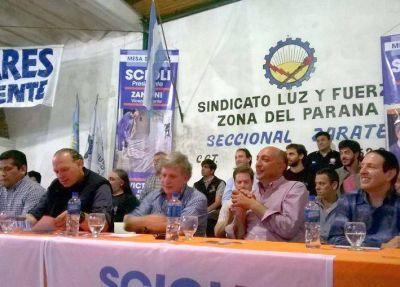 TORRES RECIBIÓ EL APOYO DE 25 SINDICATOS A SU CANDIDATURA