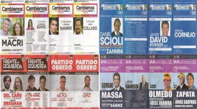 El electorado salteño optará en el cuarto oscuro entre 6 boletas
