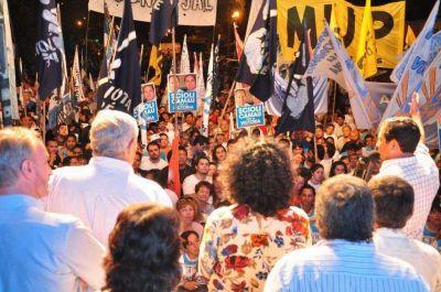 """El FPV cerró campaña con llamado a votar la """"boleta azul completa"""""""