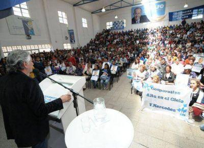 Alberto Rodríguez Saá se reunió con los trabajadores del Plan de Inclusión en San Luis