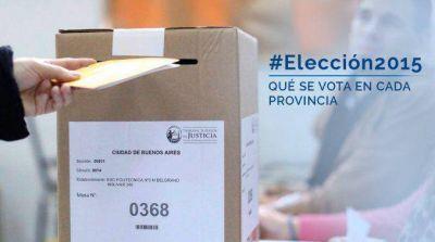 ¿Qué eligen los argentinos en cada provincia?