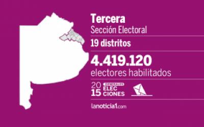 Elecciones Generales 2015: Tercera Secci�n elige intendentes, senadores y Gobernador