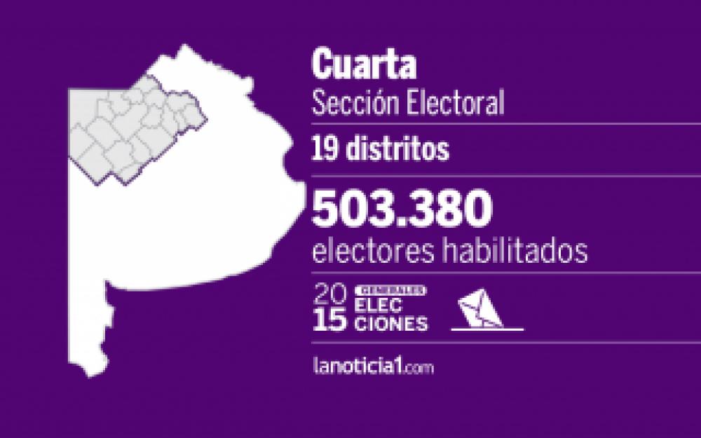 Elecciones Generales 2015: Cuarta Sección elige intendentes, diputados y Gobernador