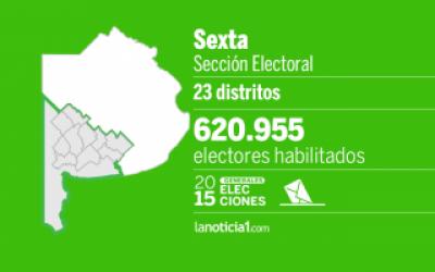 Elecciones Generales 2015: Sexta Secci�n elige intendentes, senadores y Gobernador
