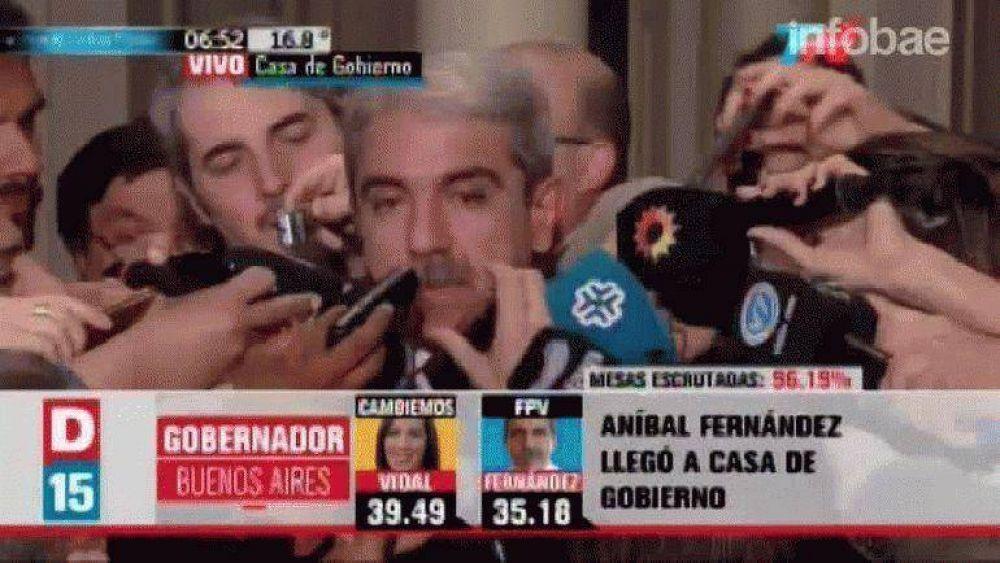 Aníbal Fernández aceptó la derrota: