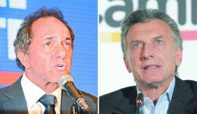Scioli y Macri iniciaron la campaña para el balotaje y aceptaron dar un debate