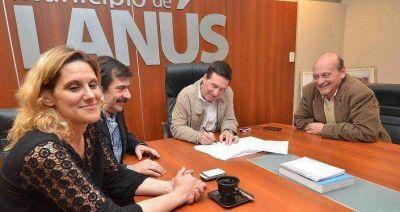 SE FIRMÓ CONVENIO ENTRE EL MUNICIPIO DE LANUS Y LA PROVINCIA DE BUENOS AIRES