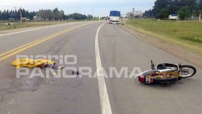 Joven motociclista perdió la vida al chocar contra una combi sobre Ruta 9