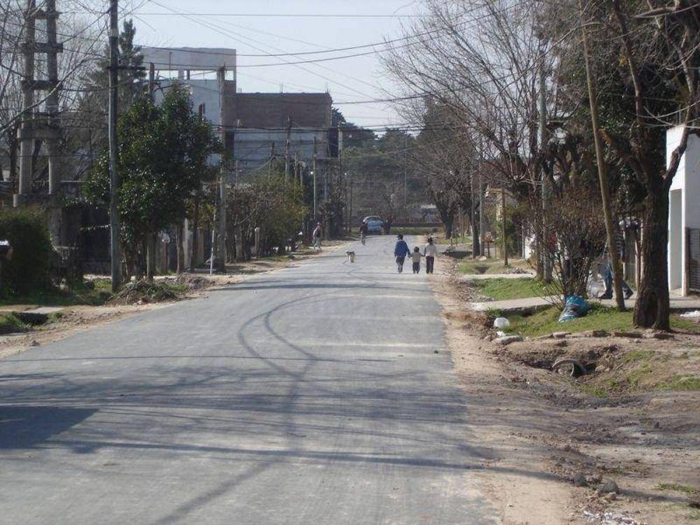 Garin: finalizó la pavimentación de la calle Del Trabajo